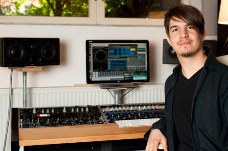 Roman Berger im Tonstudio